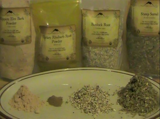 Picture of herbs used in the essiac tea recipe