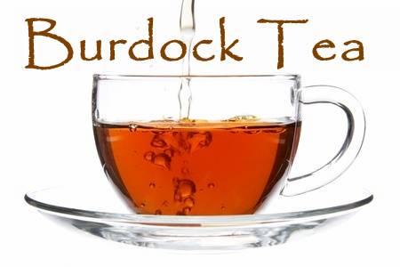 A cup of burdock root tea.